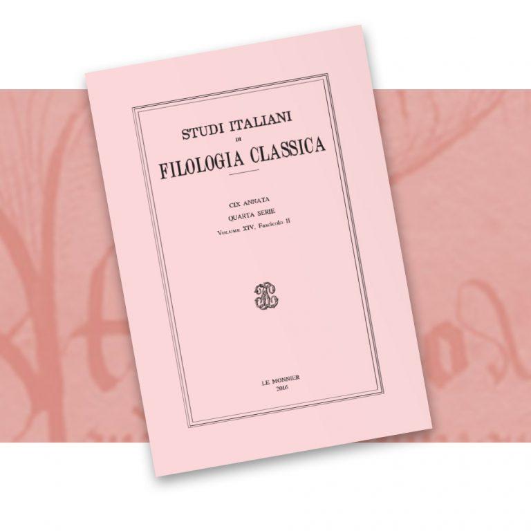 Studi Italiani di Filologia Classica