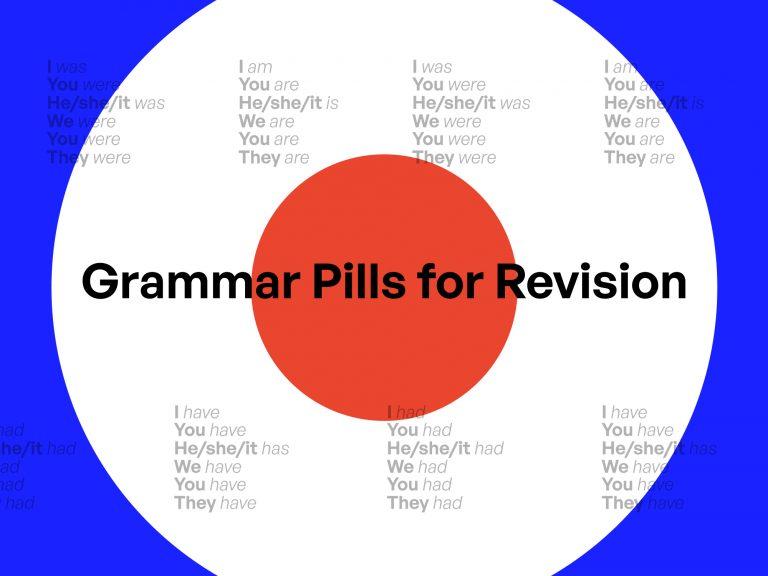 Grammar pills for revision