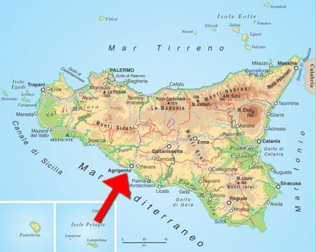 Agrigento Cartina Sicilia.Agrigento Cartina Sicilia