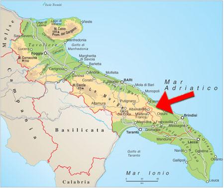 Cartina Puglia Alberobello.Mondadori Scuola